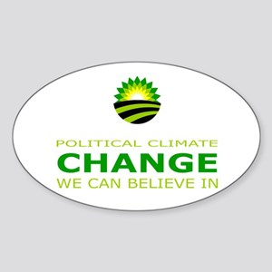 political climate change Sticker (Oval)
