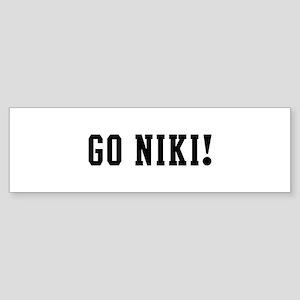 Go Niki Bumper Sticker