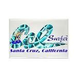Cal Surfer TM Rectangle Magnet (10 pack)