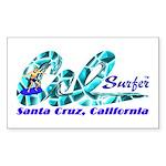 Cal Surfer TM Rectangle Sticker