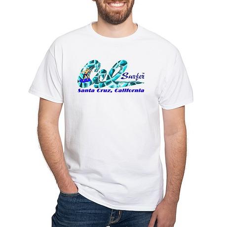 Cal Surfer TM White T-Shirt