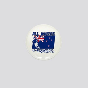 All Whites New Zealand soccer Mini Button