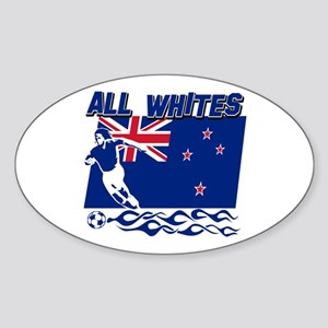 All Whites New Zealand soccer Sticker (Oval)