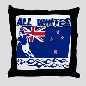 All Whites New Zealand soccer Throw Pillow