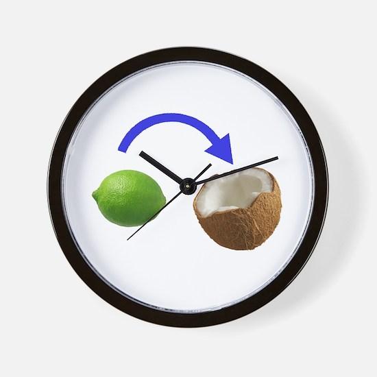 Cute Coconut Wall Clock