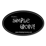 Simple Groove Oval Sticker