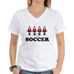 Soccer Women's V-Neck T-Shirt