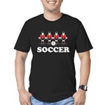 Soccer Men's Fitted T-Shirt (dark)
