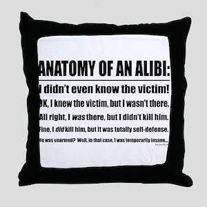 Alibi1 Throw Pillow