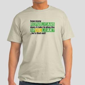 BP Oil Spill Humor Light T-Shirt