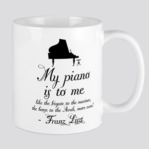 Franz Liszt Piano Quote Mug