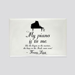 Franz Liszt Piano Quote Rectangle Magnet