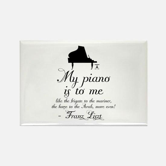 Franz Liszt Piano Quote Rectangle Magnet