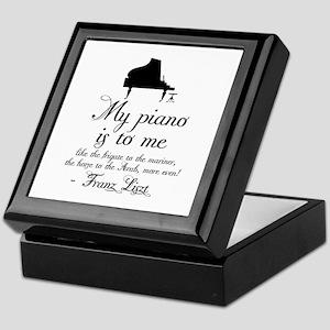 Franz Liszt Piano Quote Keepsake Box