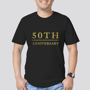 50th Anniversary Gold Shadowed Men's Fitted T-Shir