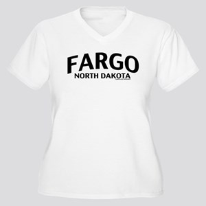 Fargo North Dakota Women's Plus Size V-Neck T-Shir