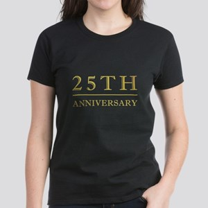 25th Anniversary Gold Shadowed Women's Dark T-Shir