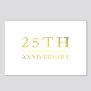 25th Anniversary Gold Shadowed Postcards (Package