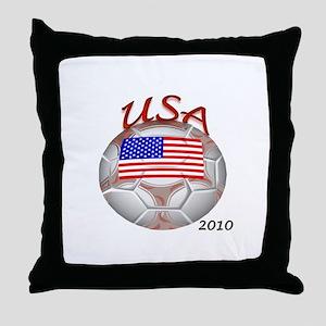 USA 2010 World Cup Soccer Throw Pillow