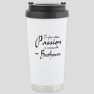 Beethoven Music Passion Quote Stainless Steel Trav