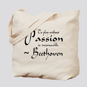 Beethoven Music Passion Quote Tote Bag