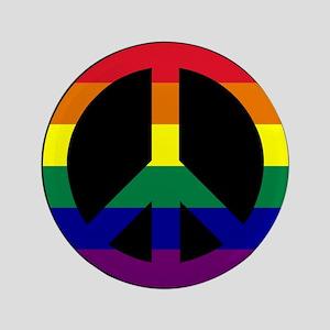 """Pride Peace Sign 3.5"""" Button"""
