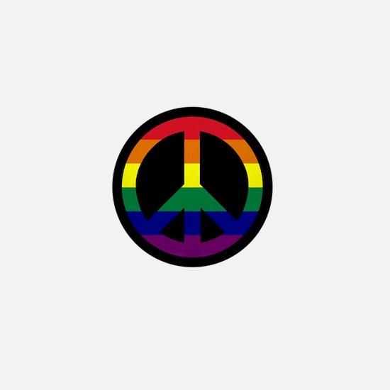 Pride Peace Sign Mini Button (10 pack)