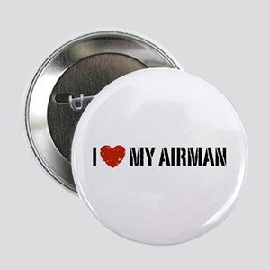 "I Love My Airman 2.25"" Button"