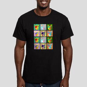 Australian Cattle Dog Pop Art Men's Fitted T-Shirt