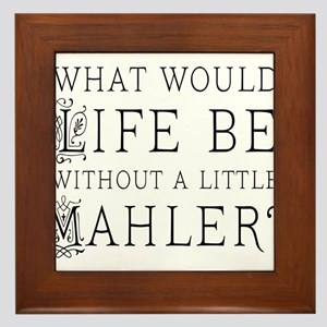 Mahler Music Quote Framed Tile