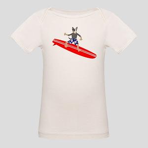 Australian Cattle Dog Surfer Organic Baby T-Shirt