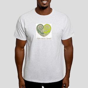 Aloha wau ia Hawai'i (I Love Light T-Shirt