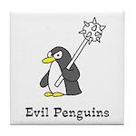 Evil Penguins Tile Coaster