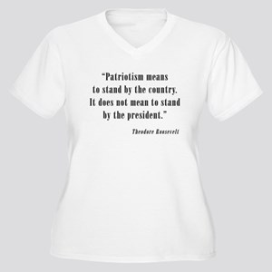 Theodore Roosevelt Quote Women's Plus Size V-Neck