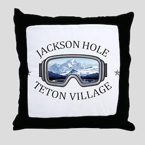 Jackson Hole - Teton Village - Wyom Throw Pillow
