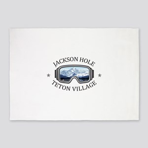 Jackson Hole - Teton Village - Wy 5'x7'Area Rug