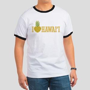 I Love Hawai'i Pineapple Heart Ringer T