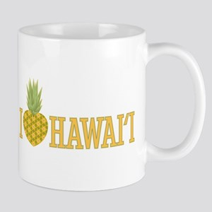 I Love Hawai'i Pineapple Heart Mug