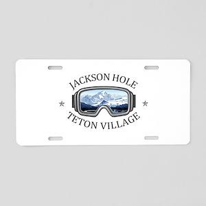 Jackson Hole - Teton Vill Aluminum License Plate