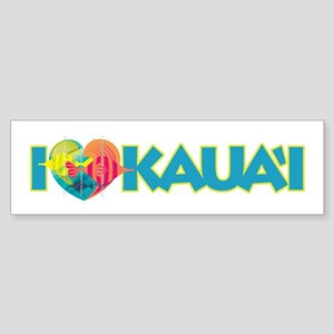 I Love Kaua'i Sticker (Bumper)