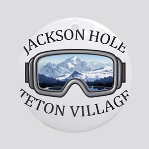 Jackson Hole - Teton Village - Wy Round Ornament