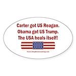 USA Heals Itself Sticker (Oval)