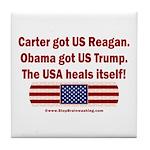 USA Heals Itself Tile Coaster