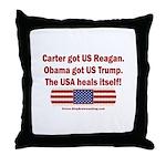 USA Heals Itself Throw Pillow
