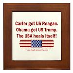 USA Heals Itself Framed Tile