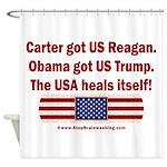 USA Heals Itself Shower Curtain