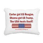 USA Heals Itself Rectangular Canvas Pillow