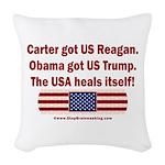 USA Heals Itself Woven Throw Pillow