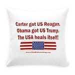 USA Heals Itself Everyday Pillow