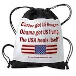 USA Heals Itself Drawstring Bag